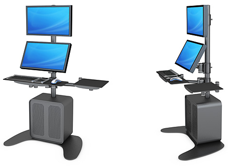 Dual-Screen Arbeitsstation