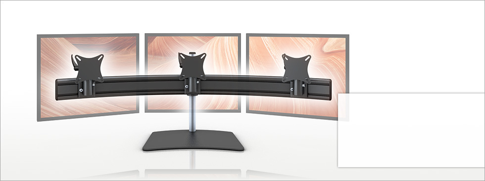 3-fach Monitorhalterungen - Trading-PC